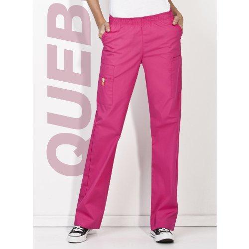 Hip Flip Scrub (Women's Wonderwink The Quebec 8-Pocket Pants, Hot Pink, XS)