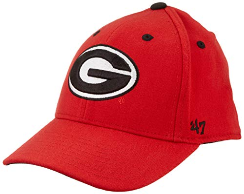 ('47 NCAA Georgia Bulldogs Mens Kickoff Contender Wool Stretch Fit Hatkickoff Contender Wool Stretch Fit Hat, Red, One Size Stretch)
