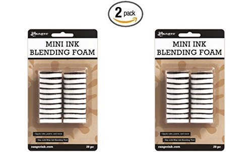 - Ranger 1-Inch Ink Round IBT40965 Blending Replacement Foams, Mini, 20-Pack (2 pack)