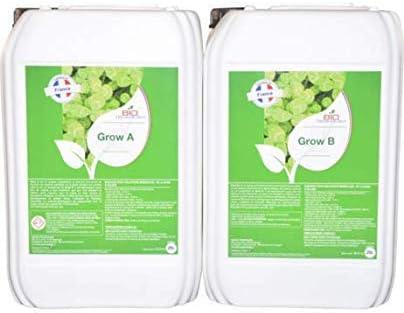 Bio Technology® | Fertilizante Mineral de Crecimiento Universal | Fertilizante de Crecimiento | Alta Eficiencia para Toda Clase de Plantas | Mejora el Rendimiento | Grow A + B - 25 L