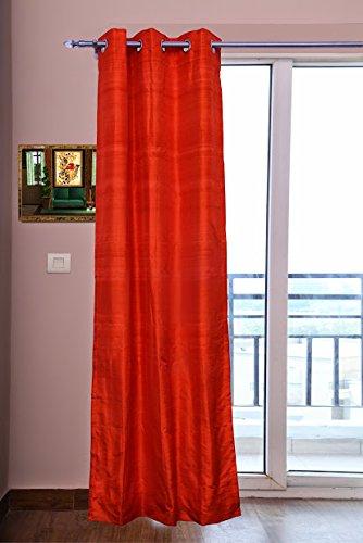 Orange Silk Curtains 40quot 101 Cm Wide X 96quot 244
