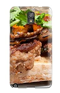 New Meatball Sandwich Tpu Case Cover, Anti-scratch BjS-2177uonATNXW Phone Case For Galaxy Note 3