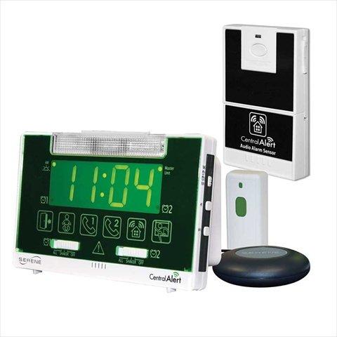 Serene Innovations CA-1008 CentralAlert Alarm Clock with Audio Sensor