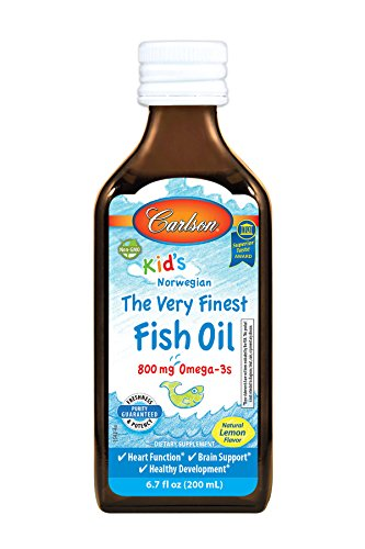 Finest Natural Fish Oil - Carlson Kid's The Very Finest Fish Oil, Lemon, Norwegian, 800 mg Omega-3s, 200 mL