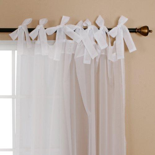 White Tie Top Sheer Curtains Curtain Menzilperde Net