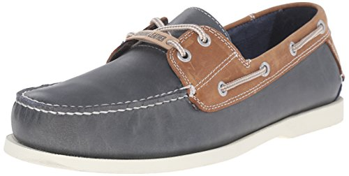Hand Sewn Boat - Dockers Men's Vargas Oxford, Washed Navy/Tan, 10 M US