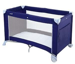 Safety 1st 21024441 Soft Dreams - Cuna de viaje con ruedas, fácil de montar (75 x 122 cm), incluye colchón plegable, color azul