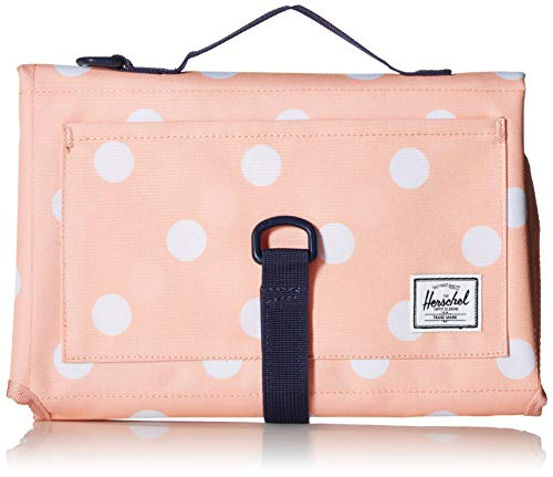 Herschel Sprout Change Mat Travel Totes, Peach Polka Dot/Peacoat, One Size