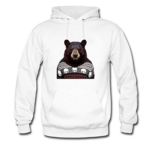 Women Classic White Hkdiy 1 Hoodie Custom Bear qRnnWPzt
