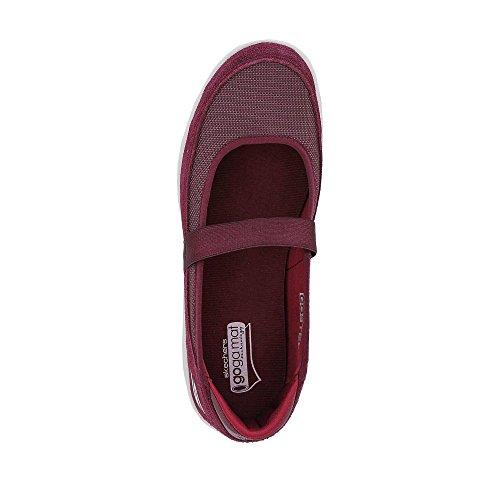 caminar Step burdeos Zapatos Snap Skechers de Go mujeres las para 5OxfqXz