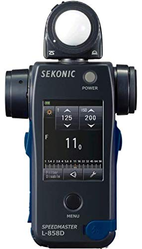 Sekonic L-858D SPEEDMASTER Digital Light Meter - Black/Blue