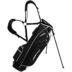 "PROSiMMON Golf DRK 7"" Lightweight Golf Stand Bag with Dual Straps Black/White"