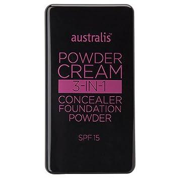 Australis Powder Cream 3 in 1 Concealer Foundation Powder Make-Up – Nude Beige
