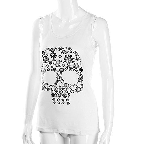En Mujer Con Camis Transpirable Esmalte Ropa Bazhahei Cuello Sin Mangas Confort Top 3 Blusa Vendaje Camisetas V Chaleco White Estampada Y De Estampado AaSqPEz