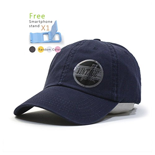 Classic Washed Cotton Twill Low Profile Adjustable Baseball Cap (Navy) ()