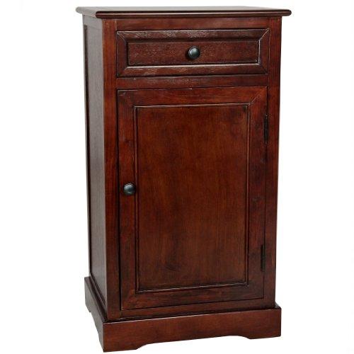 Oriental Furniture Classic Design Nightstand - Cherry