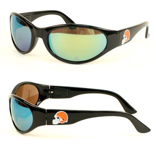 - NFL Licensed Solid Frame Team Sunglasses - Flex Hinges - (100% UV Protection) (Cleveland Browns)