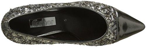 Gabor Shoes Fashion, Zapatos de Tacón para Mujer Gris (Argento/anthrazit 49)