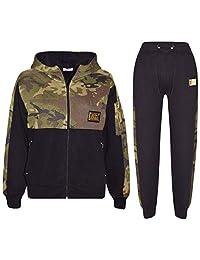 Kids Boys Girls Jogging Suit Designer A2Z Badged Camouflage Top Bottom Tracksuit
