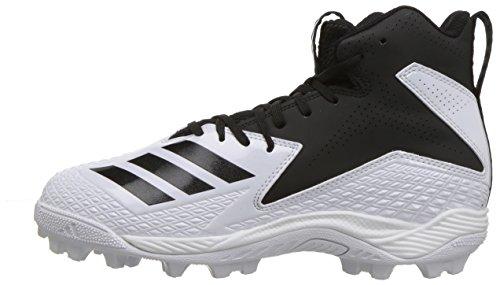 adidas Unisex Freak Mid MD Wide J Football Shoe, FTWR White, core Black, 4 M US Big Kid by adidas (Image #5)