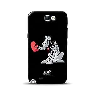 Diabloskinz Hungry D0091-0066-0011 - Carcasa para Samsung Galaxy Note 2, diseño de perro