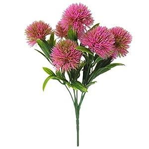 Outgeek Artificial Flower Creative 7 Heads Faux Dandelion Artificial Plant Faux Plant 95