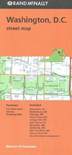 Rand Mcnally Washington D.C. Street Map (Red Cover)