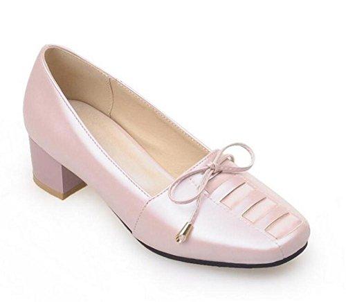 XIE Zapatos para Mujer de la corteFue con el Talón el Arco en los Zapatos Ocasionales Frescos Pequeños, Blue, 39 PINK-39