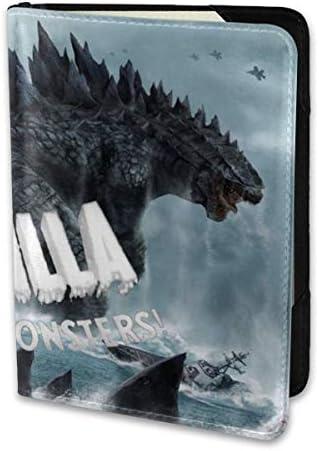 Godzilla King Of Monsters Movie ゴジラ モンスター ロゴ パスポートケース メンズ レディース パスポートカバー パスポートバッグ 携帯便利 シンプル ポーチ 5.5インチ PUレザー スキミング防止 安全な海外旅行用 小型 軽便