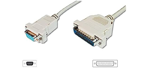 Cable serie db9/db25 para impresoras de tickets.- ak7252: Amazon ...