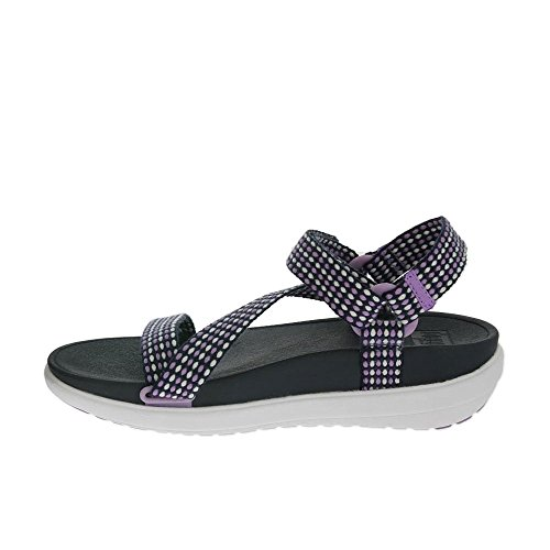 Fitflop Z-Strap Mujer Sandalias Púrpura Dusty Lilac/ Navy