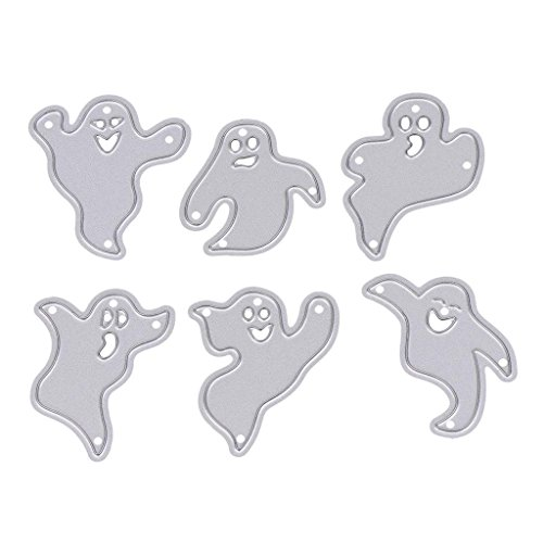 Cutting Dies Stencil Template Mould,Bottone DIY Metal Embossing Stencil For Album Scrapbooking Paper Card Art Craft Decor Christmas Design (Halloween Ghost)