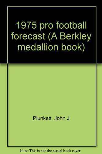 1975 pro football forecast (A Berkley medallion book)