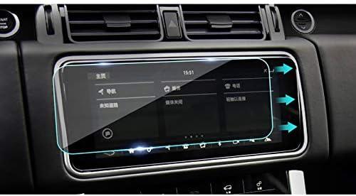 LUVCARPB カーナビゲーションスクリーンプロテクター、ランドローバーレンジローバーエボック2012-2017に適合、9H強化ガラスディスプレイ透明保護