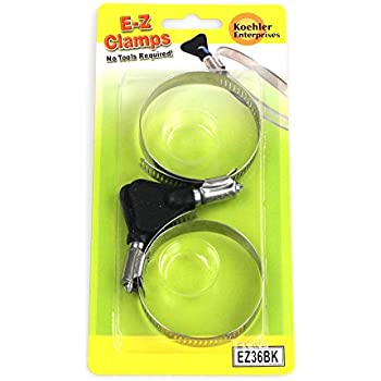 6 Piece 2 pieces each SAE Size 4, 6 and 20. No Tools Required Koehler Enterprises EZ01B EZ Clamp Blister Pack