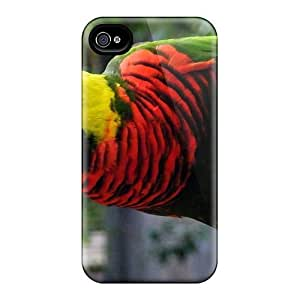 New Premium EMTYgep4835JdeJG Case Cover For Iphone 4/4s/ Parrot On A Rope Protective Case Cover