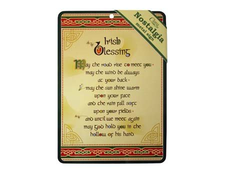 Celtic Irish Pub (Irish Blessing Nostalgia Metal A5 Sign With Celtic Design)
