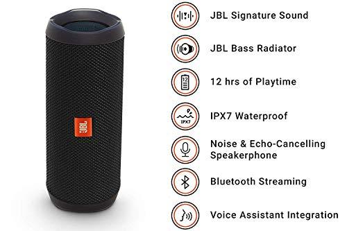 JBL FLIP 4 - Waterproof Portable Bluetooth Speaker - Black 2