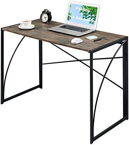 Upgrade Writing Computer Desk 40 No Assembly Kids Laptop Desk Small Folding PC Gaming Desk