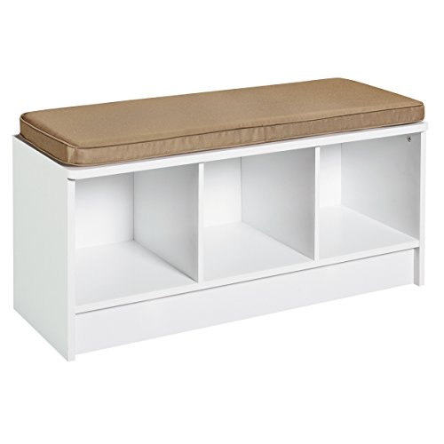 ClosetMaid 1569 Cubeicals 3-Cube Storage Bench, White - Storage Bench Cushion