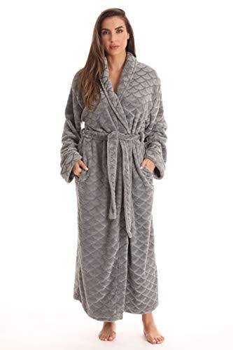 Just Love Kimono Robe Long Bath Robes for Women 6813-GRY-3X Grey