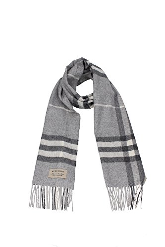 Burberry Women's Classic Check Scarf Pale Grey by BURBERRY