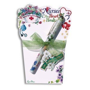 NURSE Gift Notepad ~ Nurses are the Heart of Healing Notepad with Pen ~ Beautiful ~ Appreciation ~ Thank You Caregiver Heal ~ Birthday ~ Valentine's Day