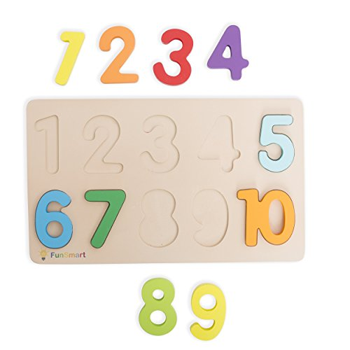2ce663b07c4 FUNSMART Wooden Puzzle 3-pack Alphabet Numbers and Shapes Holiday Gifts