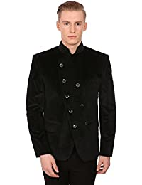 Men's Velvet Grandad Collar Ceremony Blazer - Seven Colors