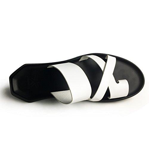 URBANFIND Herren Rutschen Sandalen Casual Sommer Mules Clogs Schuhe Weiß