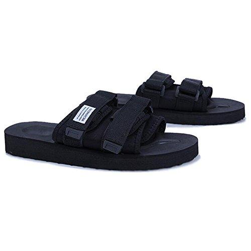 QIDI Sandalias Temporada De Verano Caucho Negro Antideslizante Resistente Al Desgaste Exterior Zapatillas Zapatos (Tamaño : EU43/UK9.5) -