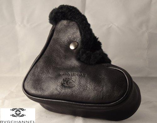 レザーパターカバー ステッラプラーネタ Leather putter cover 最高級天然皮革  ブラック B00CFIJO2K