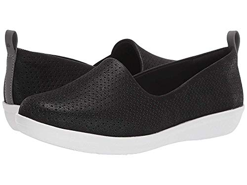 CLARKS Women's Ayla Blair Ballet Flat, Black Synthetic Nubuck, 50 M US (Footbed Removable)
