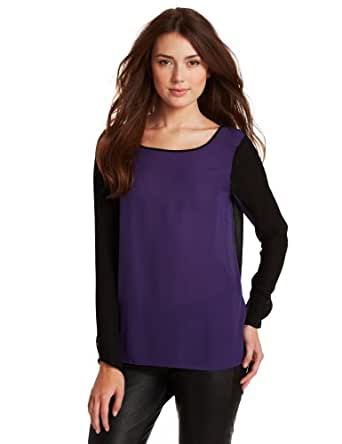 Rebecca Minkoff Women's Leah Top, Purple, 2